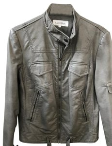Calvin Klein Faux Leather Leather Motorcycle Moto Motorcycle Jacket
