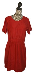 Madewell short dress red Silk on Tradesy
