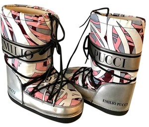 Emilio Pucci pink,silver Boots
