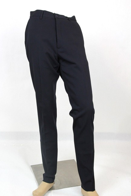 Item - Blue Men's Wool Navy Dress Pants It 52/Us 36 336263 4030 Groomsman Gift