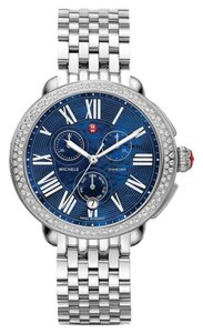 Michele NWT Diamond serein18 Blue Mother of Pearl Dial 40mm $2200