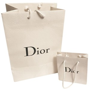Dior Chanel Paper Gift Louis Vuitton Tote in white