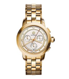 Tory Burch Authentic GOLD-TONE/IVORY CHRONOGRAPH watch
