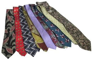Van Hueson Perry Ellis etc New Men's Wholesale Lot of 50 Silk & Other Variety Neckties