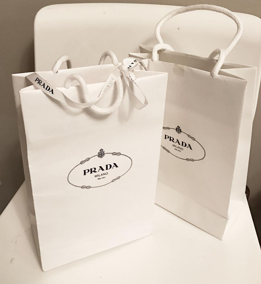 Prada 2 Small Gift with One Ribbon White Paper Tote - Tradesy