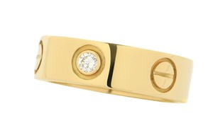 Cartier Cartier Yellow Gold LOVE Ring with Diamonds Size: 6.25 EU:53
