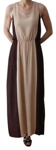 Beige/Brown Maxi Dress by W118 by Walter Baker Goddess Maxi Resort Ready