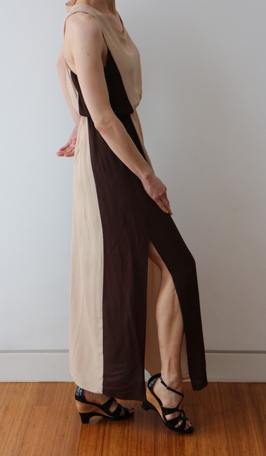 Beige/Brown Maxi Dress by W118 by Walter Baker Goddess Maxi Resort Ready Image 2