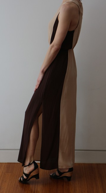 Beige/Brown Maxi Dress by W118 by Walter Baker Goddess Maxi Resort Ready Image 3