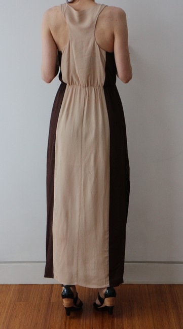 Beige/Brown Maxi Dress by W118 by Walter Baker Goddess Maxi Resort Ready Image 4