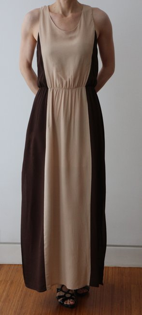 Beige/Brown Maxi Dress by W118 by Walter Baker Goddess Maxi Resort Ready Image 5