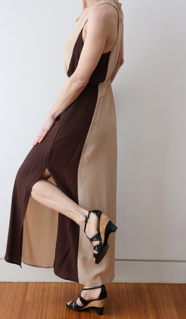 Beige/Brown Maxi Dress by W118 by Walter Baker Goddess Maxi Resort Ready Image 6