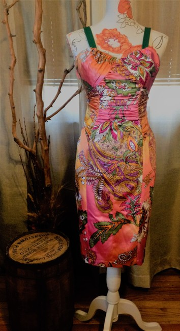 David Meister Colorful Date Night Dress Image 1
