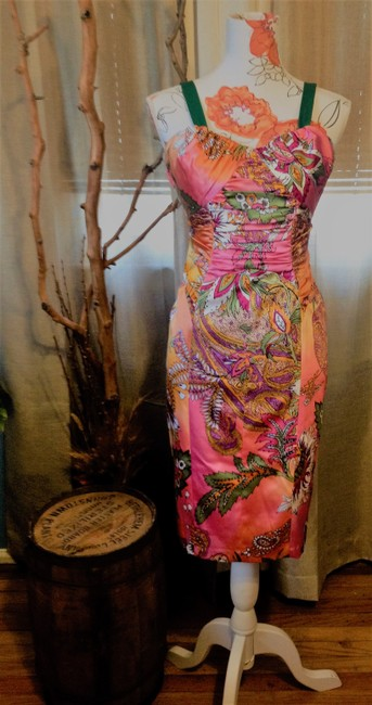 David Meister Colorful Date Night Dress Image 2