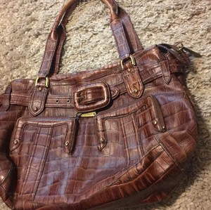 Cole Haan Satchel in burgundy / brown