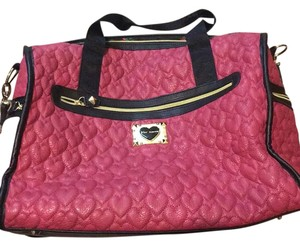 Betsey Johnson pink and black Travel Bag