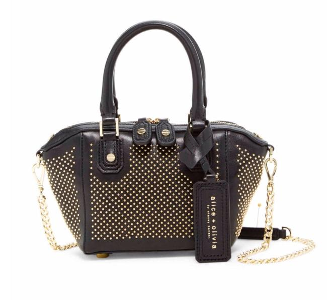 Item - Reserved New Studded Nappa Mini Handbag H507438174 Black Gold Leather Cross Body Bag