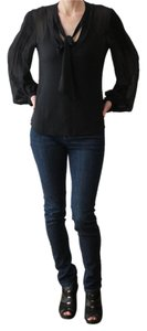 BCBGMAXAZRIA Happy Hour Slouchy Chic Top Black