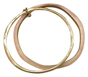 Alexis Bittar Alexis Bittar Peach Lucite and Gold bangle bracelet