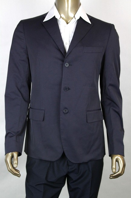 Bottega Veneta Navy Men's 3-button Blazer Jacket It 52/Us 42 282667 4014 Groomsman Gift Bottega Veneta Navy Men's 3-button Blazer Jacket It 52/Us 42 282667 4014 Groomsman Gift Image 1