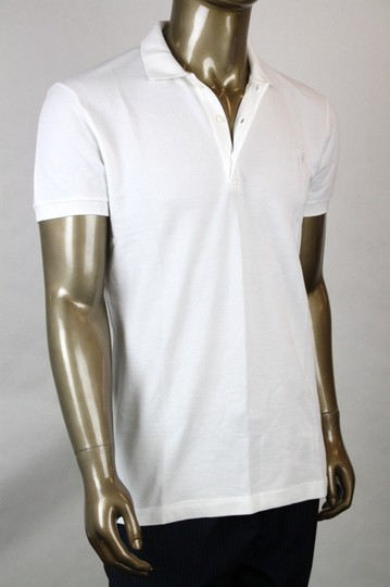 Bottega Veneta White Men's Polo with Logo It 50/Us 40 206338 9000 Shirt Image 1