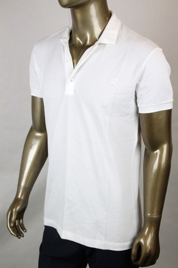 Bottega Veneta White Men's Polo with Logo It 50/Us 40 206338 9000 Shirt Image 2