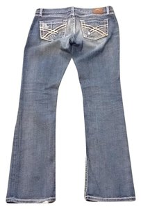 BKE Distressed Boot Cut Jeans-Distressed