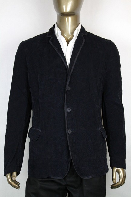 Item - Blue Men's Navy Corduroy Blazer Jacket It 52/Us 42 309328 4014 Groomsman Gift