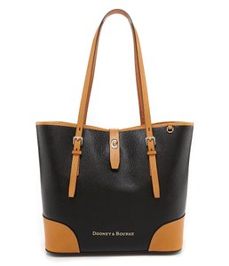 Dooney & Bourke Tote in BLACK / TAN TRIM