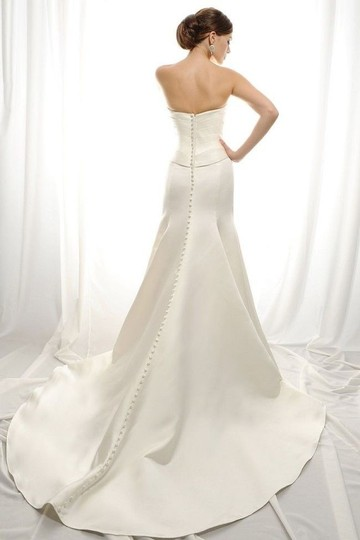 Eden Ivory Duchess Satin Gl007 Bridal Modern Wedding Dress Size 10 (M) Image 1