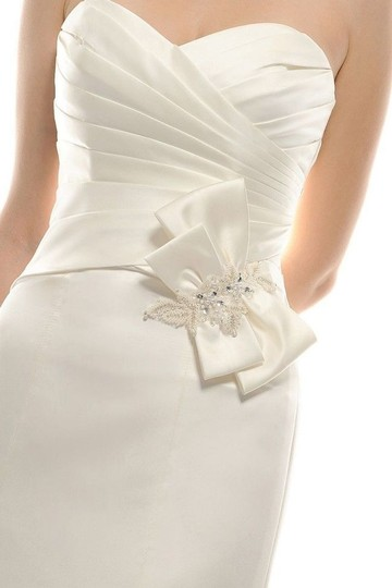 Eden Ivory Duchess Satin Gl007 Bridal Modern Wedding Dress Size 10 (M) Image 2