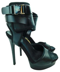 Gucci Leather High Heels black Platforms