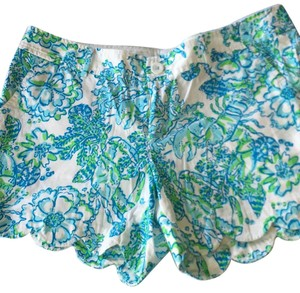 Lilly Pulitzer Bermuda Shorts green, blue, and white.