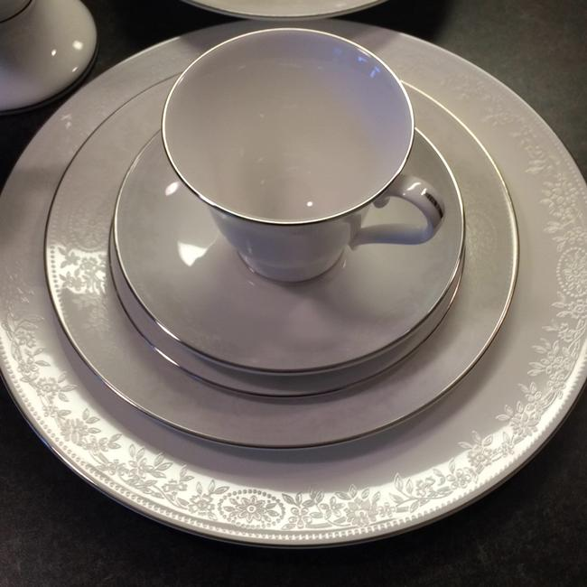 Item - White On White with Silver Trim Fine China