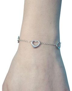 Tiffany & Co. Tiffany & Co. Elsa Peretti 5 Open Heart Bracelet 7 1/4