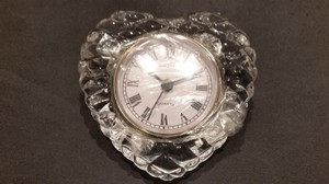 Crystal Heart Clock By Shannon Fine Crystal