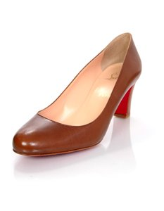 Christian Louboutin Leather Heels brown Pumps