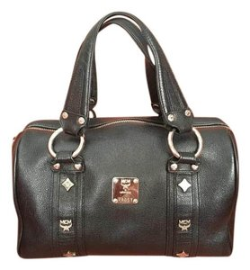 MCM Boston Satchel in Black
