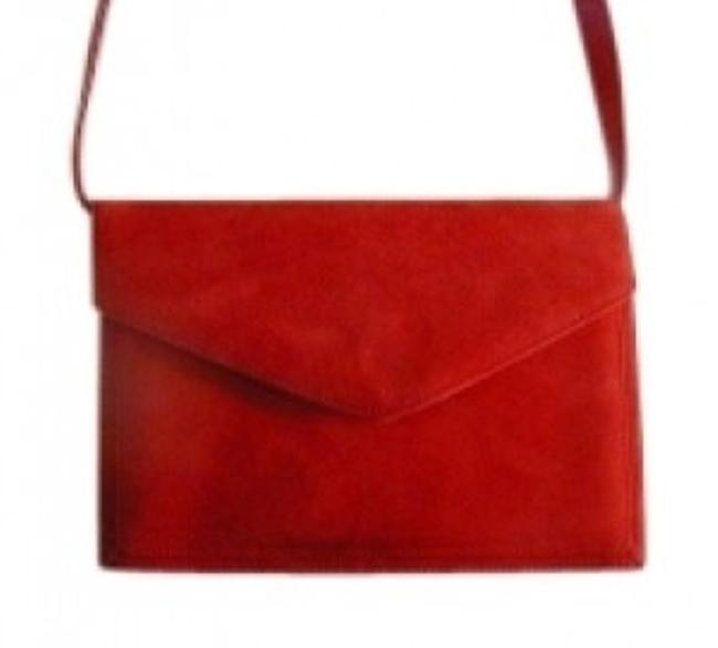 Item - Shoulder/Cross Body Purse Red Suede and Leather Shoulder Bag