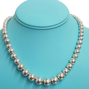 Tiffany & Co. CLASSIC!! Tiffany & Co. Graduated Bead Necklace Sterling Silver 16