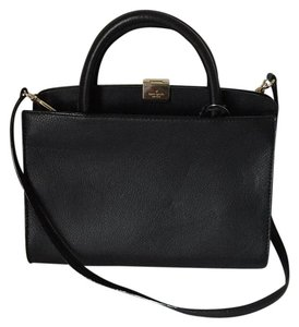 Kate Spade Pebble Leather Satchel in Black