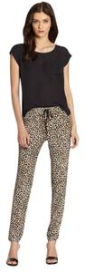 Rebecca Taylor Animal Print Waist Drawstring Pants