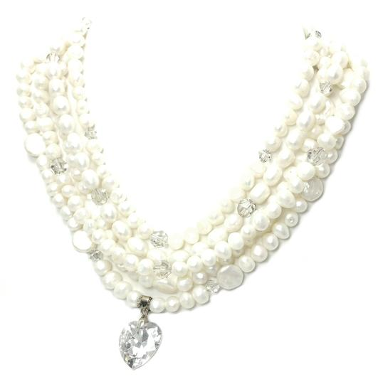 Kinley Multi Strand Pearl Heart Kinley Necklace With Backdrops Image 1