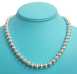 Tiffany & Co. RARE!!! SOLID!!!! 110.9 grams Tiffany & Co. Graduated Bead Necklace Sterling Silver 16