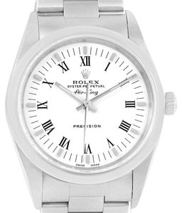 Rolex Rolex Oyster Perpetual Air King White Dial Watch 14000 Box Papers