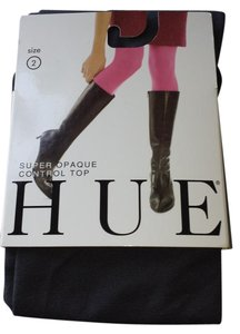 Hue New size 2 Heather Grey / Tornado Footed Tights