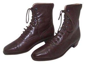 Manolo Blahnik Vintage Lace Up Brown Boots