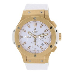 Hublot Big Bang Evolution 44 Rose Gold Watch White Dial on White Rubber Strap