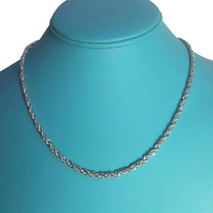 Tiffany & Co. CLASSIC!!!! Tiffany & Co. 18 Karat Yellow Gold and Sterling Silver Rope Chain 18