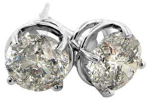 ABC Jewelry 2 ct Brilliant cut diamond stud earrings NATURAL 1.98TW white gold
